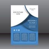 Vektordesign av det blåa reklambladwhitstället för bilder Arkivfoto