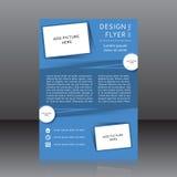 Vektordesign av det blåa reklambladwhitstället för bilder Arkivfoton