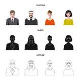 Vektordesign av frisyr- och yrkelogoen Ställ in av frisyr- och teckenvektorsymbolen för materiel stock illustrationer