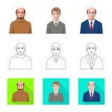 Vektordesign av frisyr- och yrkelogoen St?ll in av frisyr- och teckenvektorsymbolen f?r materiel stock illustrationer