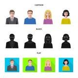 Vektordesign av frisyr- och yrkesymbolet Ställ in av frisyr- och teckenvektorsymbolen för materiel stock illustrationer