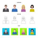 Vektordesign av frisyr- och yrkesymbolet Ställ in av frisyr- och teckenvektorsymbolen för materiel vektor illustrationer