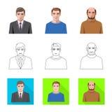 Vektordesign av frisyr- och yrkesymbolet St?ll in av frisyr- och teckenmaterielsymbolet f?r reng?ringsduk stock illustrationer