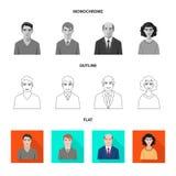 Vektordesign av frisyr- och yrketecknet Samling av illustrationen för frisyr- och teckenmaterielvektor vektor illustrationer