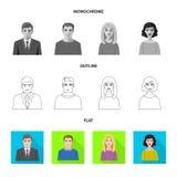 Vektordesign av frisyr- och yrketecknet Samling av frisyr- och teckenvektorsymbolen för materiel vektor illustrationer
