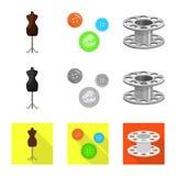 Vektordesign av hantverket och att handcraft logo Samling av illustrationen f?r hantverk- och branschmaterielvektor vektor illustrationer
