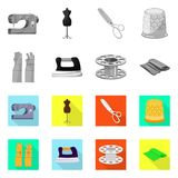 Vektordesign av hantverket och att handcraft logo St?ll in av hantverk- och branschvektorsymbolen f?r materiel vektor illustrationer