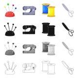 Vektordesign av hantverket och att handcraft logo St?ll in av hantverk- och branschvektorsymbolen f?r materiel stock illustrationer