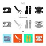 Vektordesign av hantverket och att handcraft symbol Samling av hantverk- och branschvektorsymbolen f?r materiel stock illustrationer