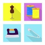 Vektordesign av hantverket och att handcraft symbol Samling av illustrationen f?r hantverk- och branschmaterielvektor stock illustrationer