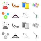 Vektordesign av hantverket och att handcraft symbolen Samling av hantverk- och branschvektorsymbolen f?r materiel stock illustrationer