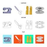 Vektordesign av hantverket och att handcraft symbolen Samling av hantverk- och branschvektorsymbolen f?r materiel vektor illustrationer