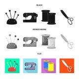 Vektordesign av hantverket och att handcraft symbolen Ställ in av illustration för hantverk- och branschmaterielvektor stock illustrationer