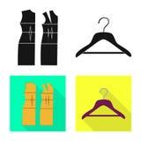 Vektordesign av hantverket och att handcraft tecknet Samling av hantverk- och branschvektorsymbolen f?r materiel royaltyfri illustrationer