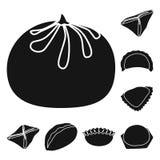 Vektordesign av kokkonst och aptitretaretecknet Samling av kokkonst- och matvektorsymbolen för materiel vektor illustrationer