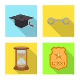 Vektordesign av lag och advokatlogoen Samling av lag- och rättvisavektorsymbolen för materiel royaltyfri illustrationer