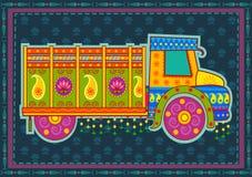 Vektordesign av lastbilen Indien Arkivfoto