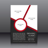 Vektordesign av reklambladet Royaltyfri Fotografi