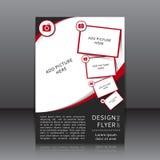Vektordesign av reklambladet Royaltyfria Foton