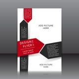 Vektordesign av reklambladet Arkivfoto