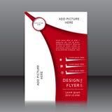 Vektordesign av reklambladet Arkivfoton