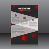 Vektordesign av reklambladet med röda celler Arkivfoton
