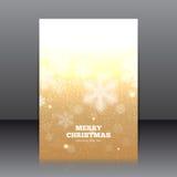 Vektordesign av reklambladet med snöflingor Royaltyfri Foto