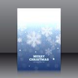 Vektordesign av reklambladet med snöflingor Royaltyfri Bild