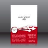Vektordesign av skyttarna och stället för röd reklambladwhit de vita för bilder Royaltyfria Foton