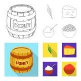 Vektordesign av smak och produktsymbolen Samlingen av smak och att laga mat lagerf?r vektorillustrationen vektor illustrationer