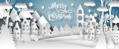 Vektordesign der frohen Weihnachten Guten Rutsch ins Neue Jahr 2019 und frohe Weihnachten lizenzfreies stockbild
