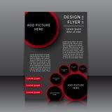 Vektordesign des Fliegers Stockfotografie