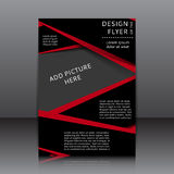 Vektordesign des Fliegers Stockbilder