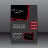 Vektordesign des Fliegers Lizenzfreie Stockfotos