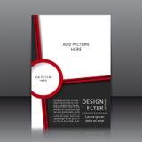 Vektordesign des Fliegers Stockfoto