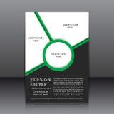 Vektordesign des Fliegers Stockbild