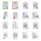 Vektordesign des Form- und Dokumentensymbols Sammlung Vektorillustration der Form und des Kennzeichens der auf Lager vektor abbildung