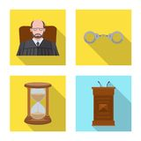 Vektordesign des Gesetzes und des Rechtsanwaltlogos Sammlung der Gesetzes- und Gerechtigkeitsvektorikone f?r Vorrat lizenzfreie abbildung