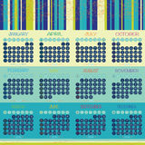 Vektordesign des Kalender-2016 Stockfotografie