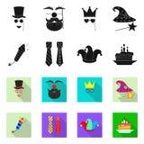 Vektordesign des Partei- und Geburtstagslogos Sammlung Vektorillustration der Partei und der Feier der auf Lager lizenzfreie abbildung