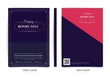 Vektordesign för räkningsrapporten, broschyr, reklamblad, affisch i formatet A4 Royaltyfri Bild
