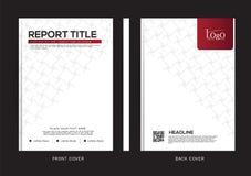 Vektordesign för räkningsrapporten, broschyr, reklamblad, affisch i formatet A4 Arkivbild