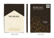 Vektordesign för räkningsrapporten, broschyr, reklamblad, affisch i formatet A4 Royaltyfria Bilder
