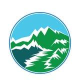 Vektordesign für Illustration Berg Himalaja vektor abbildung
