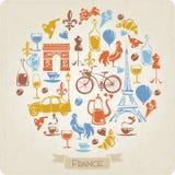 Vektordesign mit Franch-Elementen Lizenzfreies Stockbild