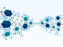Vektordesign Netztechnikhintergrund Lizenzfreies Stockfoto