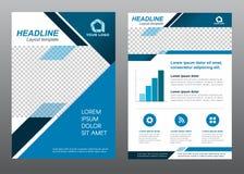 Vektordesign Ton des Deckblatts der Planfliegerschablonengröße A4 blaues stock abbildung
