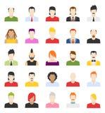 Vektordesign von Leuteavataras Lizenzfreie Stockbilder