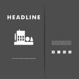 Vektordesign von schwarzem Schattenbildstadtbild ENV Stockfoto