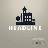 Vektordesign von schwarzem Schattenbildstadtbild ENV Lizenzfreies Stockfoto